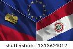 lichtenstein and paraguay 3d...   Shutterstock . vector #1313624012
