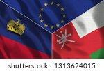 lichtenstein and oman 3d...   Shutterstock . vector #1313624015