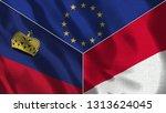 lichtenstein and monaco 3d...   Shutterstock . vector #1313624045
