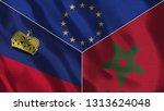lichtenstein and morocco 3d...   Shutterstock . vector #1313624048