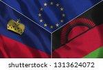 lichtenstein and malawi 3d...   Shutterstock . vector #1313624072