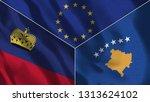 lichtenstein and kosovo 3d...   Shutterstock . vector #1313624102