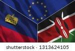 lichtenstein and kenya 3d...   Shutterstock . vector #1313624105