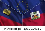 lichtenstein and haiti 3d...   Shutterstock . vector #1313624162