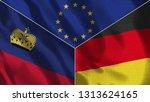lichtenstein and germany 3d...   Shutterstock . vector #1313624165
