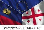 lichtenstein and georgia 3d...   Shutterstock . vector #1313624168