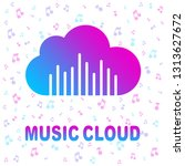 simple icon with cloud and... | Shutterstock .eps vector #1313627672
