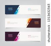 vector abstract web banner... | Shutterstock .eps vector #1313632565