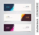 vector abstract banner design... | Shutterstock .eps vector #1313632832