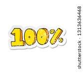 retro distressed sticker of a... | Shutterstock .eps vector #1313636468