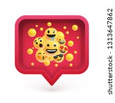 high detailed emoticons in a...   Shutterstock .eps vector #1313647862
