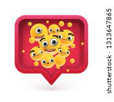 high detailed emoticons in a...   Shutterstock .eps vector #1313647865