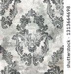 rococo baroque texture pattern... | Shutterstock .eps vector #1313664698