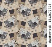 ethnic boho seamless pattern.... | Shutterstock .eps vector #1313673725
