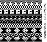 aztec seamless tribal pattern.... | Shutterstock .eps vector #1313698892