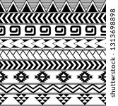 aztec seamless tribal pattern.... | Shutterstock .eps vector #1313698898