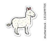 retro distressed sticker of a...   Shutterstock .eps vector #1313699705