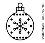 snowflake bubble line icon    Shutterstock .eps vector #1313709788