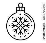 snowflake bubble line icon    Shutterstock .eps vector #1313709848