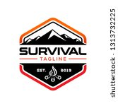 survival design logo template | Shutterstock .eps vector #1313732225