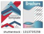 abstract vector business... | Shutterstock .eps vector #1313735258