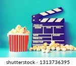 top view of chalkboard  ... | Shutterstock . vector #1313736395