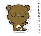 sticker of a peaceful cartoon... | Shutterstock .eps vector #1313759312