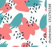 seamless modern pattern with... | Shutterstock .eps vector #1313761568