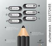 black modern infographic vector ... | Shutterstock .eps vector #1313772455