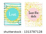 bridal shower set with dots and ... | Shutterstock .eps vector #1313787128