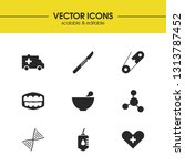 medical icons set with blood...