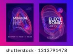 electronic fest. dynamic... | Shutterstock .eps vector #1313791478
