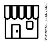 shop icon or symbol simple flat ...