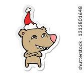 hand drawn sticker cartoon of a ... | Shutterstock .eps vector #1313801648
