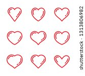 heart icon set | Shutterstock .eps vector #1313806982