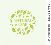 natural love logo vector | Shutterstock .eps vector #1313817962