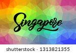 hand lettering modern... | Shutterstock .eps vector #1313821355