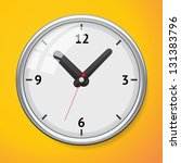 vector mechanical clock. clock... | Shutterstock .eps vector #131383796