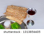 table ready for traditional... | Shutterstock . vector #1313856605