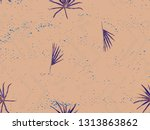 red rosy exotic pattern.... | Shutterstock . vector #1313863862