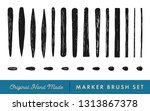 hand drawn marker brush set for ... | Shutterstock .eps vector #1313867378