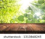 empty wooden table background | Shutterstock . vector #1313868245