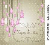 happy birthday card vector... | Shutterstock .eps vector #131388002
