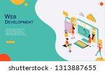 modern flat design isometric... | Shutterstock .eps vector #1313887655