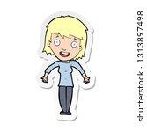 sticker of a cartoon woman... | Shutterstock .eps vector #1313897498