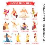 ancient greek gods 12 strip... | Shutterstock .eps vector #1313899802
