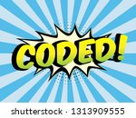 speech bubbles with on color in ...   Shutterstock .eps vector #1313909555