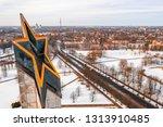 riga  latvia  february 14  2018 ... | Shutterstock . vector #1313910485