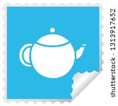 square peeling sticker cartoon... | Shutterstock .eps vector #1313917652