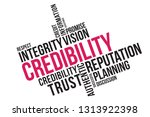 credibility word cloud collage  ...   Shutterstock .eps vector #1313922398